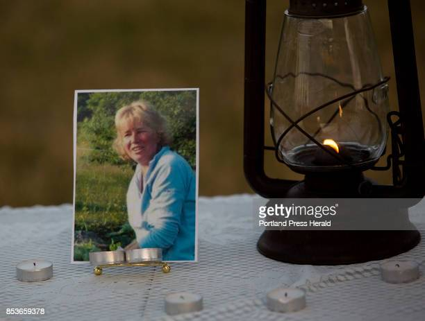 People attend a vigil on the top of Beech Hill for Buffy Krause who was allegedly murdered by her son Orion Krause Orion is also being charged with...