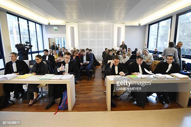 People attend an appeal hearing about controversial airport project of NotreDame des Landes at the Administrative Court of Appeal in Nantes western...