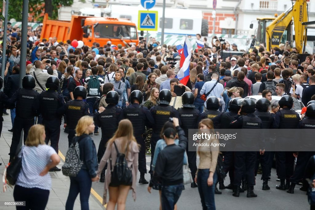 Unauthorized rally in Moscow : News Photo