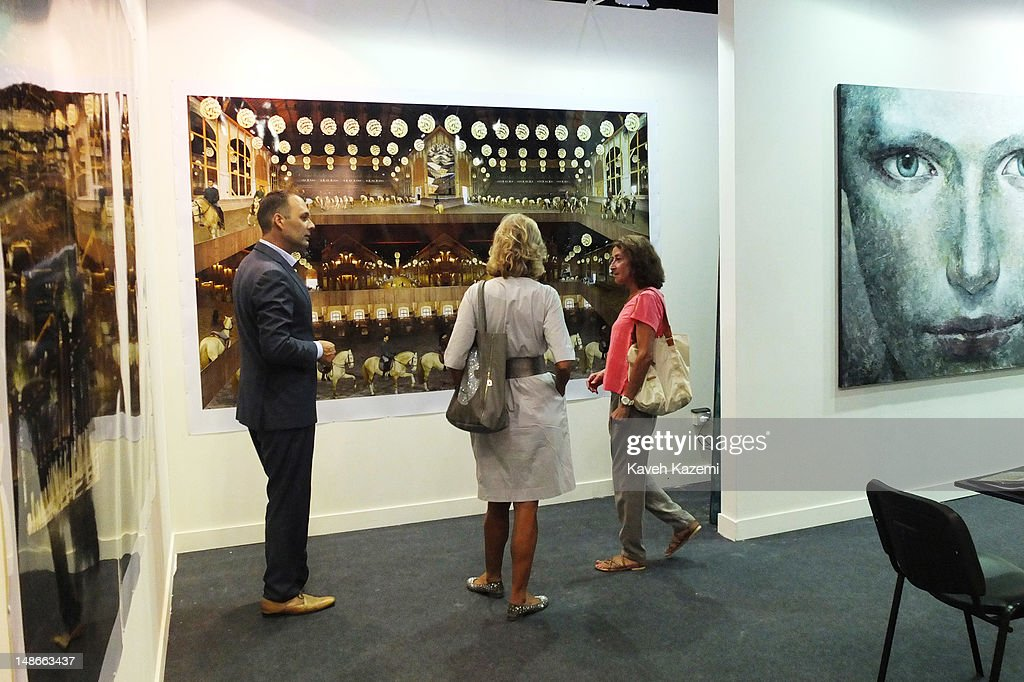 People attend Beirut Art Fair which promotes contemporary art
