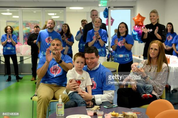 People attend Day of Joy Celebration at Boston Children's Hospital August 28 2017 in Boston Massachusetts