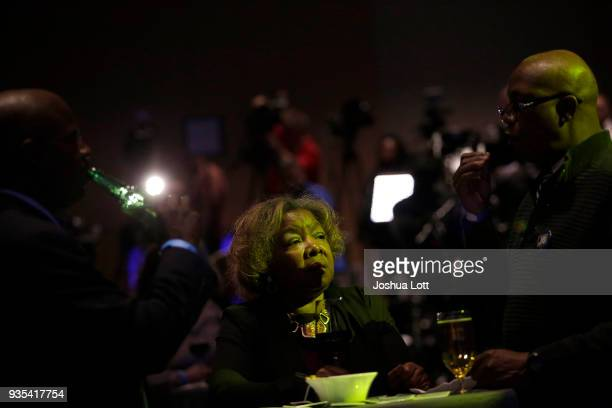 People attend Democratic governor candidate JB Pritzker's primary election night event on March 20 2018 in Chicago Illinois Pritzker is challenging...