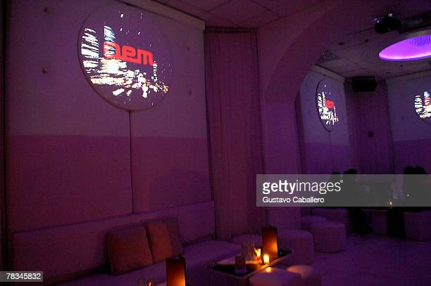 People attend Gem nightclub as Playboy playmate Jessica Canizales hosts on December 9 2007 in Miami Beach Florida