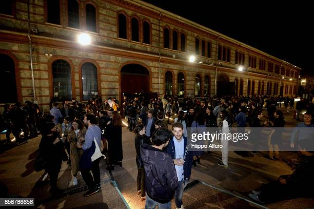 People attend OGR Big Bang event on October 7 2017 in Turin Italy