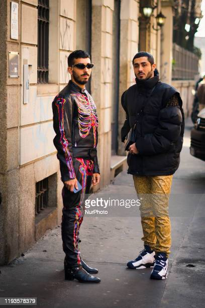 People attend Street Style: January 13 - Milan Men's Fashion Week Fall/Winter 2020 January 2020, Milan, Italy