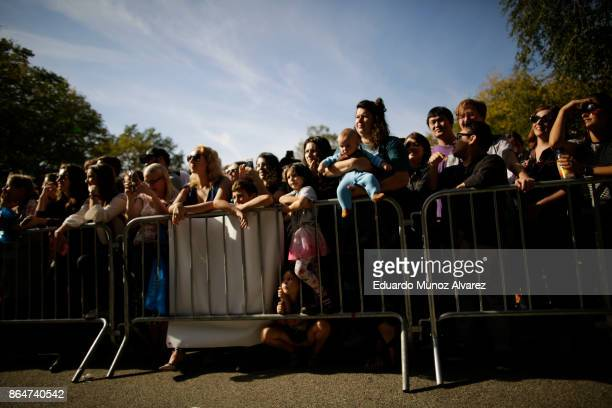 People attend the 27th Annual Tompkins Square Halloween Dog Parade in Tompkins Square Park on October 21, 2017 in New York City. More than 500...