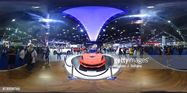 NONTHABURI BANGKOK THAILAND People attend the 38th Bangkok International Auto Show at the Impact Center in Nonthaburi Thailand