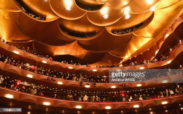 People attend the 50th anniversary celebration of Spanish opera singer Placido Domingo during the season premiere of Trittico at the Metropolitan...