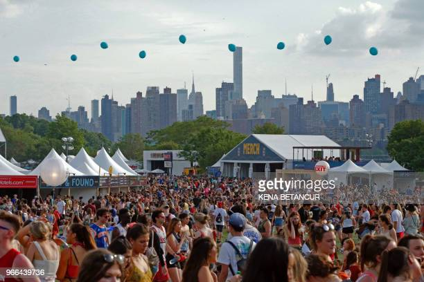 People attend the annual Governors Ball Music Festival in Randalls Island in New York on June 2 2018