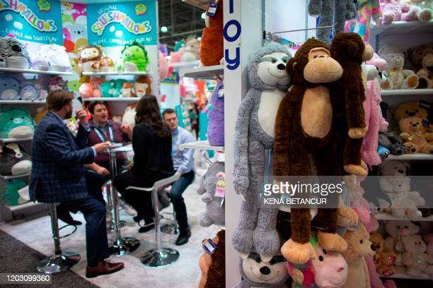 People attend the annual toy fair at the Javitz Center on February 24 2020 in New York City There is no China Pavilion at this year's Toy Fair owing...