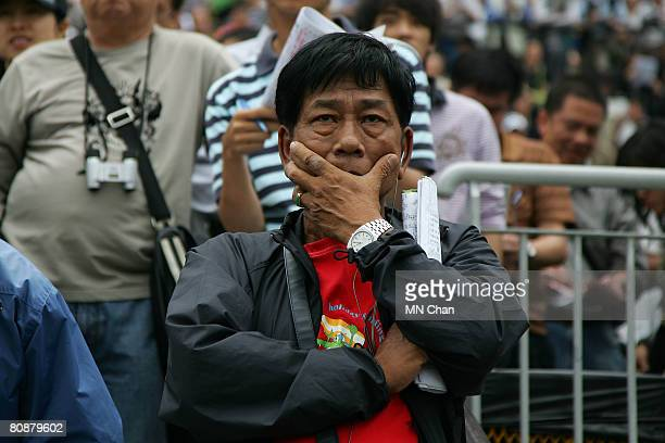 People attend the Audemars Piguet QE II Cup Race day at Sha Tin Racecourse on April 27 2008 in Hong Kong China The Chinese Special Administrative...
