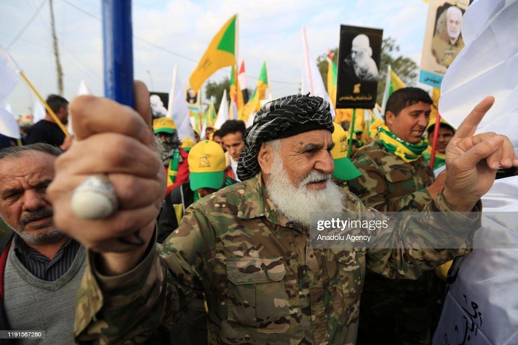Funeral ceremony of Qasem Soleimani and Abu Mahdi al-Muhandis in Baghdad : ニュース写真