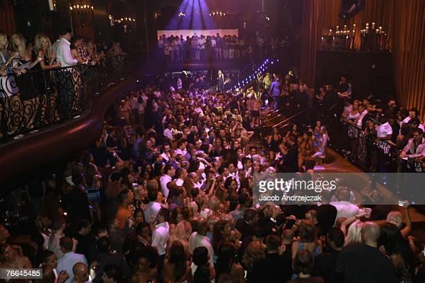 People attend the LAX Nightclub at the Luxor Resort Casino September 9 2007 in Las Vegas Nevada