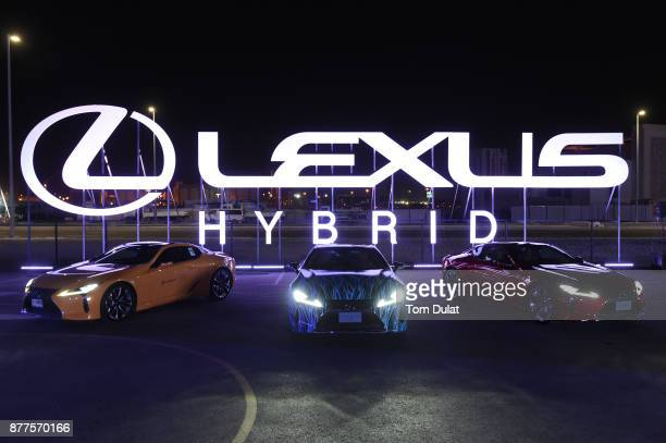 People attend the Lexus Hybrid Drive In at Dubai Design District on November 22 2017 in Dubai United Arab Emirates