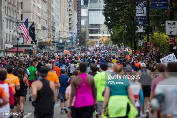 People attend the New York City Marathon on November 3 2019 in New York City