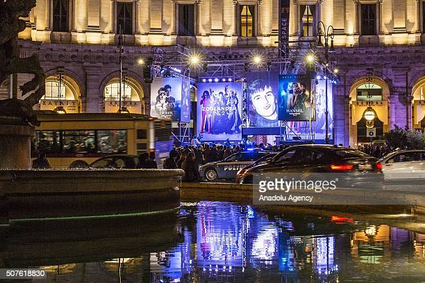 """People attend the premiere of """"Zoolander 2"""" at The Space Cinema Moderno - Piazza della Repubblica in Rome, Italy on January 30, 2016."""