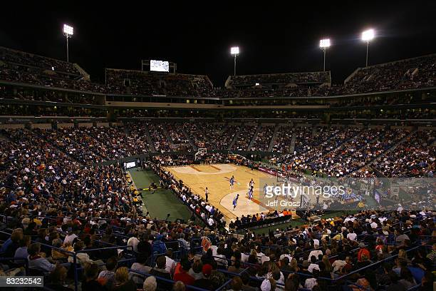 People attend the preseason game between the Denver Nuggets and the Phoenix Suns at the Indian Wells Tennis Garden on October 11, 2008 in Indian...