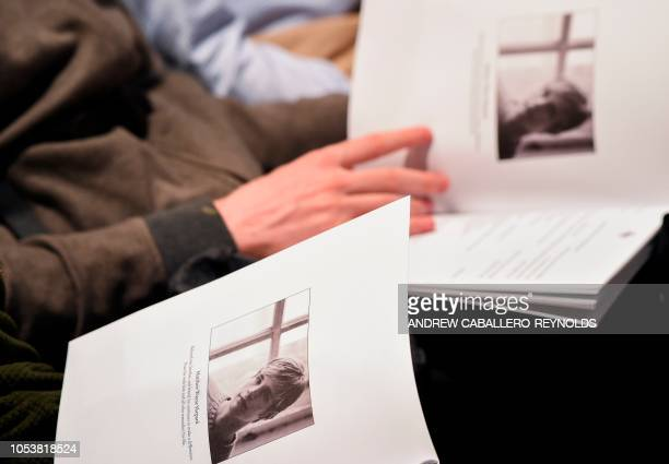 People attend the remembrance ceremony for Matthew Shepard at the Washington National Cathedral on October 25 in Washington DC Two decades ago the...