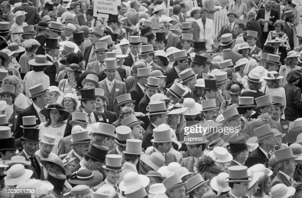 People attend the Royal Ascot at Ascot Racecourse UK 19th June 1985
