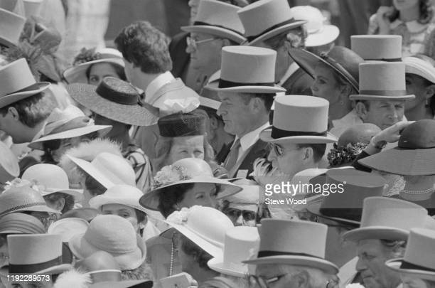 People attend the Royal Ascot at Ascot Racecourse UK 22nd June 1984