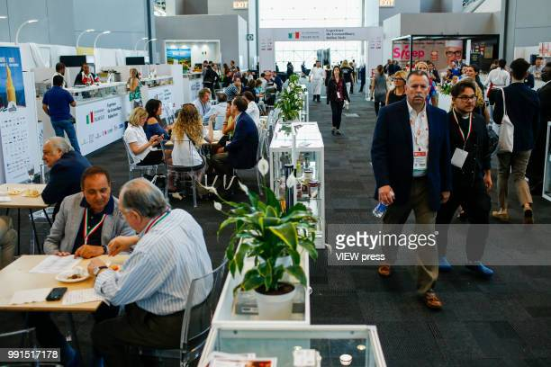 People attend The Summer Fancy Food Show at the Javits Center in the borough of Manhattan on July 02 2018 in New York The Summer Fancy Food Show is...