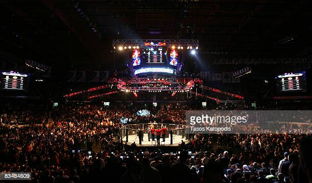 People attend the UFC 90 at UFC's Ultimate Fight Night at Allstate Arena on October 25, 2008 in Chicago, Illinois.
