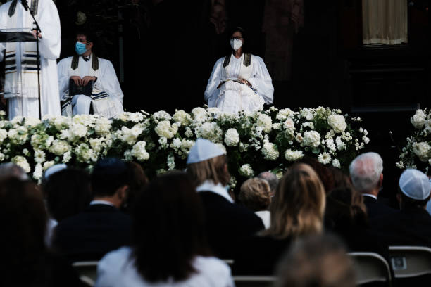 NY: Yom Kippur Services Held At Central Park's SummerStage In New York City