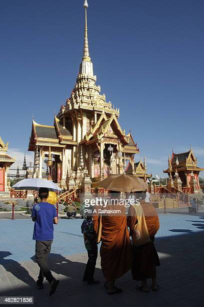 People attending at Royal funeral pyre for cremation ceremony on the HRH Princess Bejaratana Rajasuda at Royal field in Bangkok. Princess Bejaratana,...