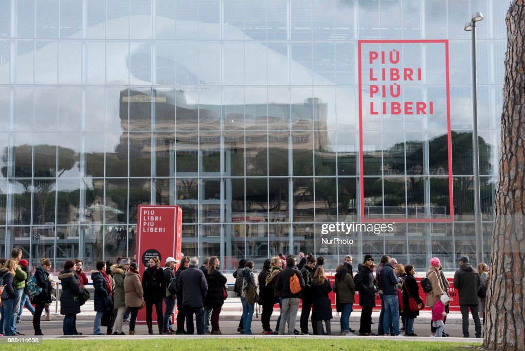 People attends Più Libri Più Liberi small fair and media publishing 2017 in Rome. This year it took place inside the Nuvola congress center designed by the architect Massimiliano Fuksas