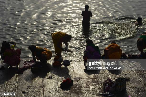 People Bathing In Ganges River