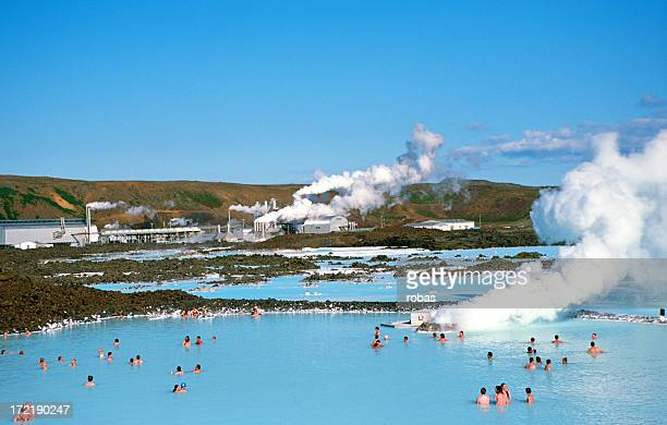 People bathing in The Blue Lagoon