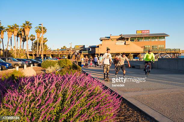 People Being Active at the Ventura Promenade and Pier California