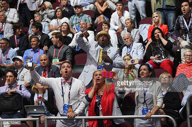 People boo Senator Ted Cruz as he addresses the crowd during the third day of the Republican National Convention on Wednesday July 20 2016