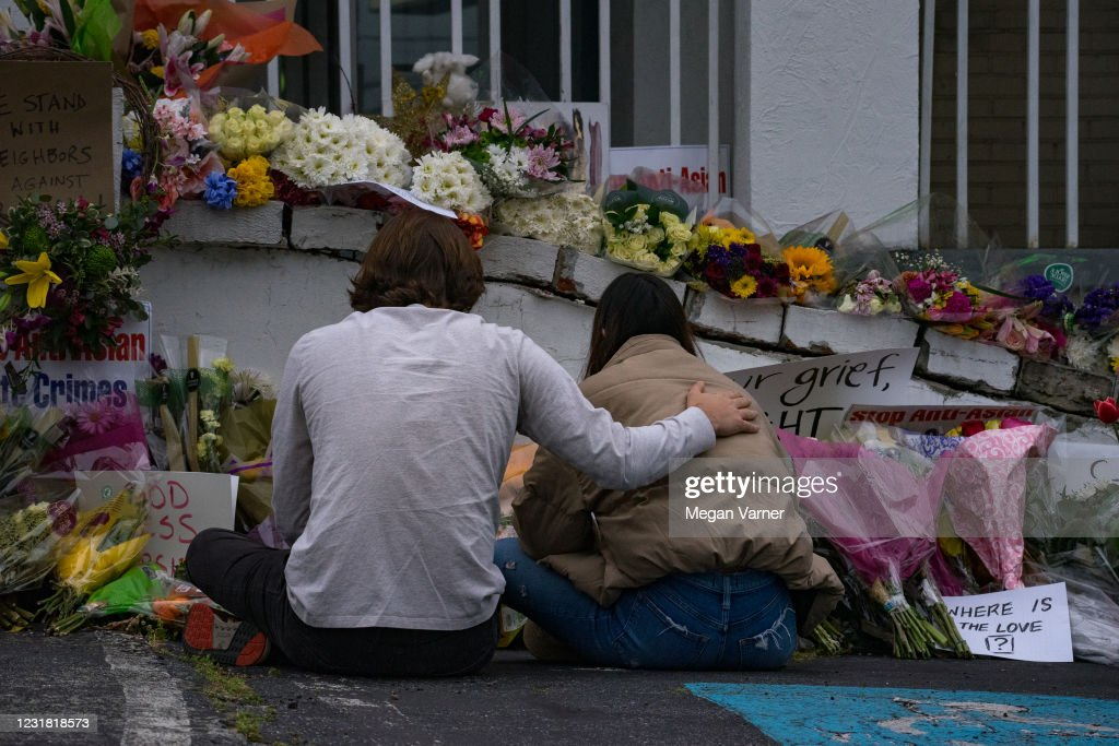 Atlanta Community Continues To Mourn Shootings That Left 8 Dead At Area Massage Parlors : News Photo