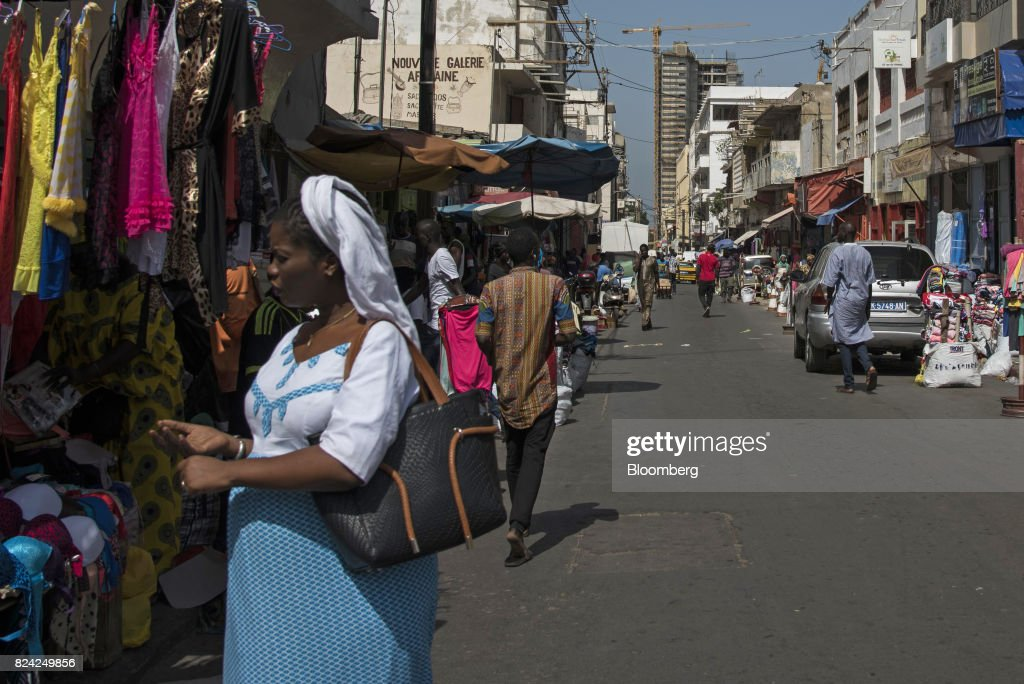 General Economy In Senegal Capital Ahead Of Elections : News Photo
