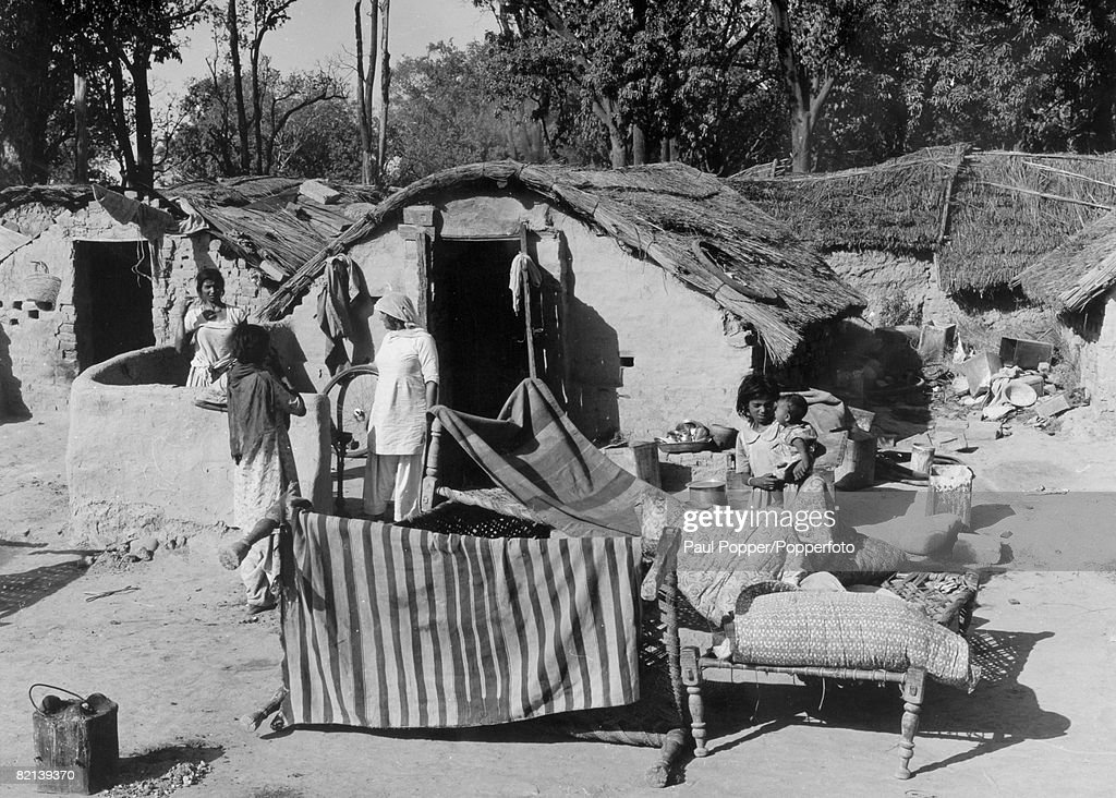 People Buildings India Chandigarh pic 1964 Slum areas and squatters in Chandigarh shortly before a vast resettlement scheme took place