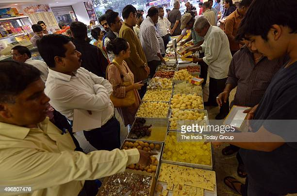 People busy buying Sweets ahead of Diwali in New Delhi