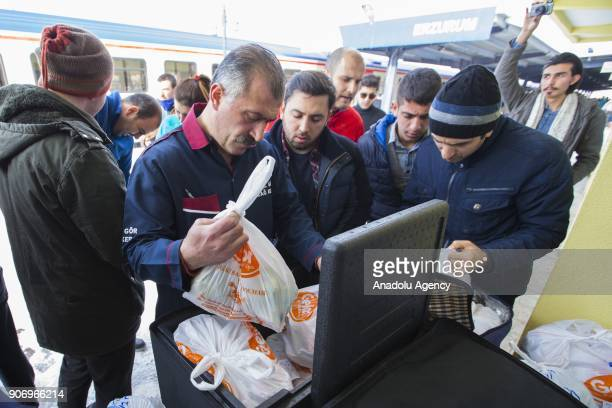 People buy kebab which are ordered before the travelers' arrival during the break of the Eastern Express which travels from Ankara to Kars in Erzurum...