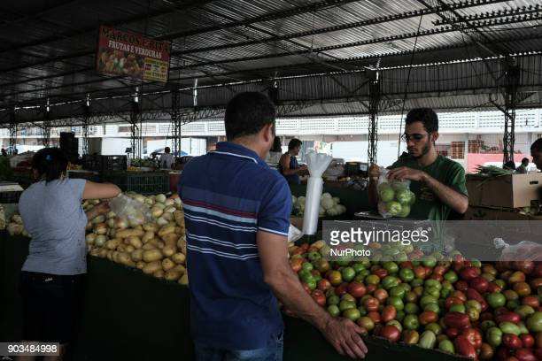 People buy vegetables and vegetables at a popular market in the city of Recife Northeast Brazil on January 10 2018 A study by the Department of...