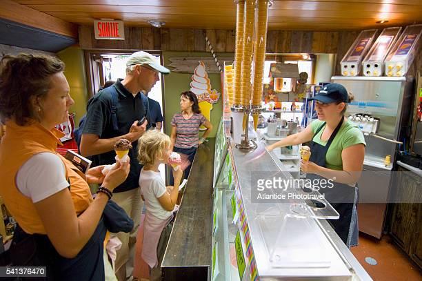 People Buying Ice Cream Cones