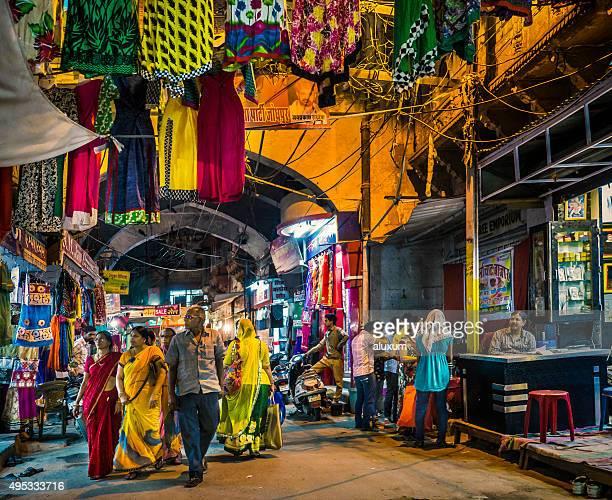 People buying in Sadar bazaar Jodhpur Rajasthan India