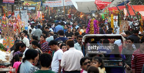 People buying utensils and Diwali gifts on the occasion of Diwali, on November 11, 2012 in Noida, India.