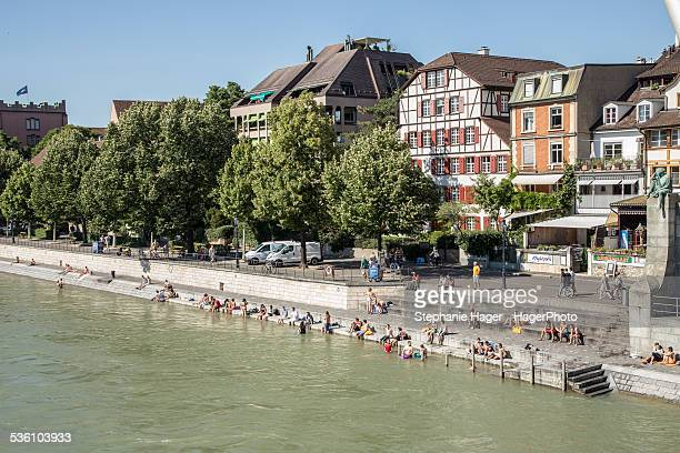 People by the Rhine River