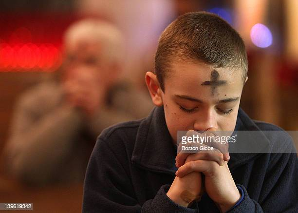 People came to St Anthony Shrine on the outskirts of Downtown Crossing to receive ashes on Ash Wednesday the start of Lent in the Catholic Church...