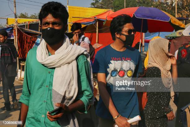 People came wearing masks in the event of Lalon Festival because of the fear of Coronavirus disease Closing program of the event was also suspended...