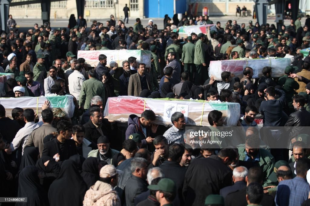 Funeral ceremony of 27 members of Iran's Revolutionary Guards : News Photo
