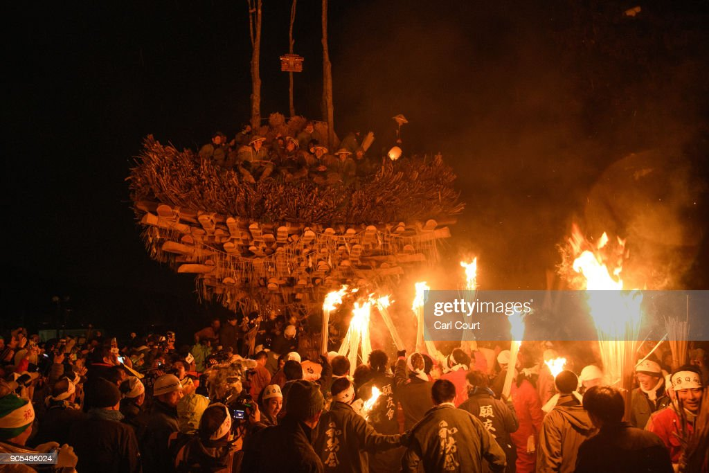 Burning Shrines, Flaming Torches And Sake: Fire Festival In Japan