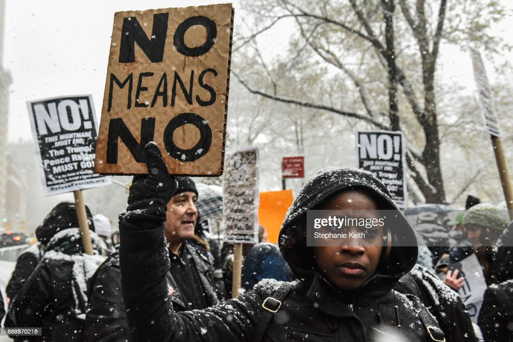 #MeToo Rally Held Outside Of Trump Tower In Manhattan : News Photo