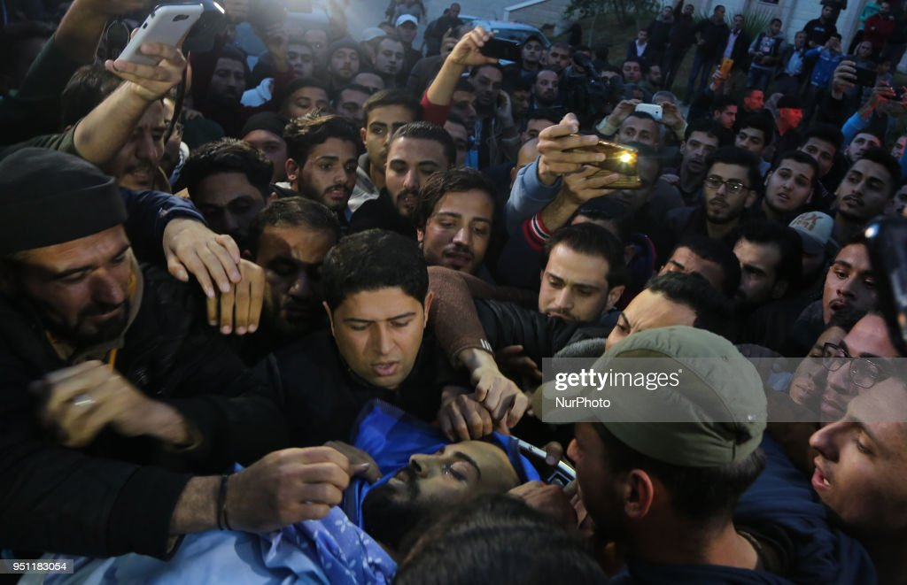 Funeral of Palestinian Journalist Ahmed Abu Hussein