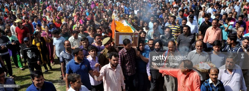 Funeral Ceremony Of Martyr SgCT Deepak Thusoo Held In Jammu